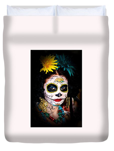 Day Of The Dead Eyes Duvet Cover