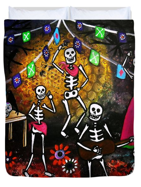 Day Of The Dead Festival Duvet Cover