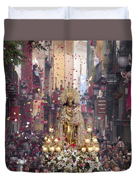 Day Of The Virgen De Los Desamparados Duvet Cover