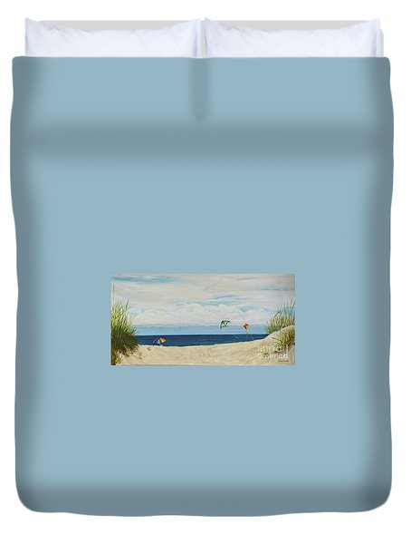 Day On Beach Duvet Cover