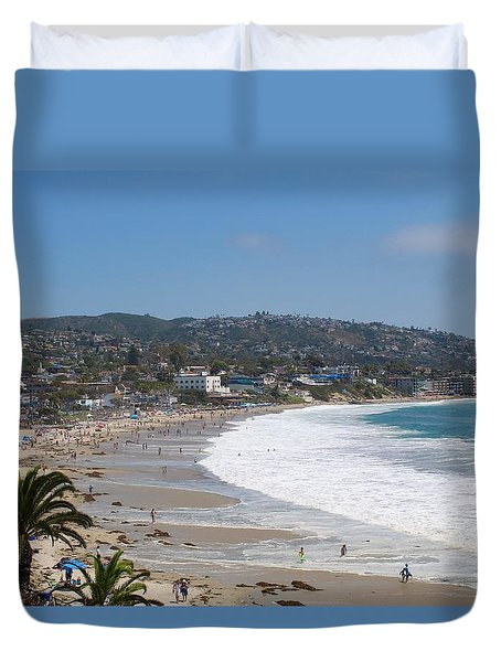 Day On The Beach Duvet Cover