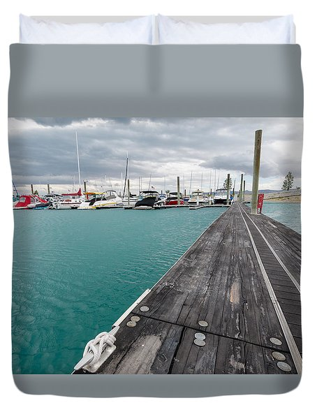 Day On The Docks Duvet Cover