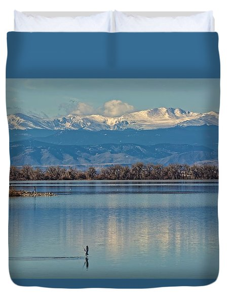 Day On The Lake Duvet Cover