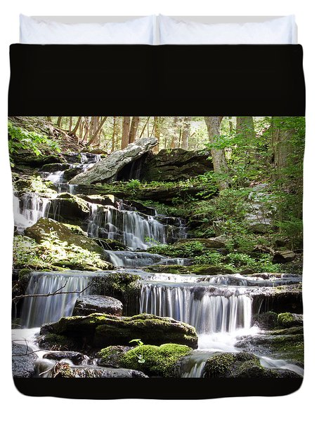 Day Pond Falls 05/22/15 Duvet Cover