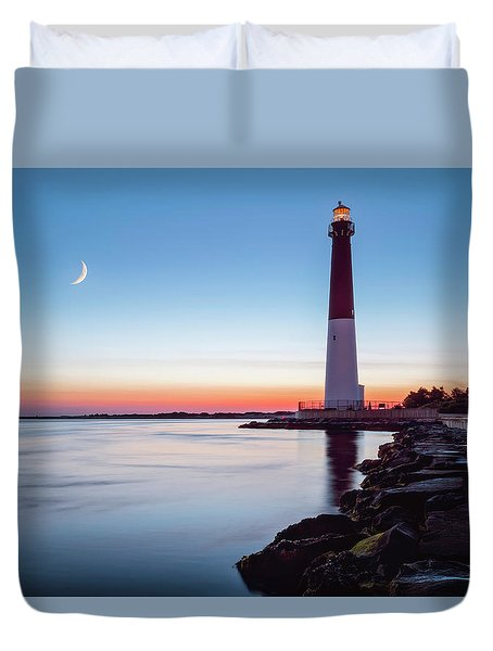 Duvet Cover featuring the photograph Daybreak At Barnegat by Eduard Moldoveanu
