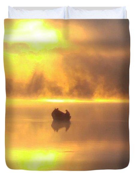 Daybreak Fishermen Duvet Cover
