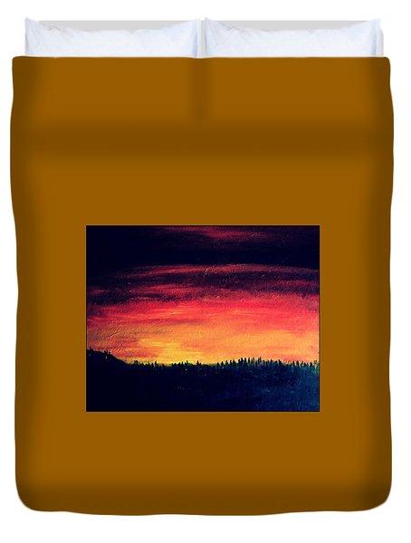 Daybreak Number Four Duvet Cover by Scott Haley