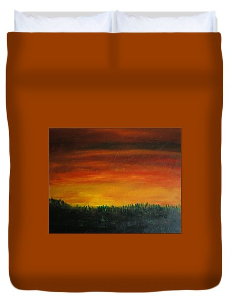 Daybreak Number Three Duvet Cover by Scott Haley