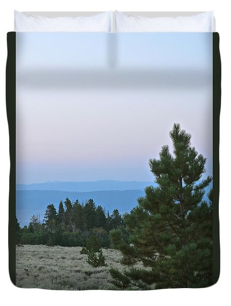 Daybreak On The Mountain Duvet Cover