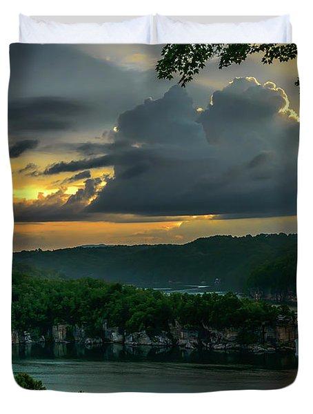 Daybreak Over Long Point Duvet Cover