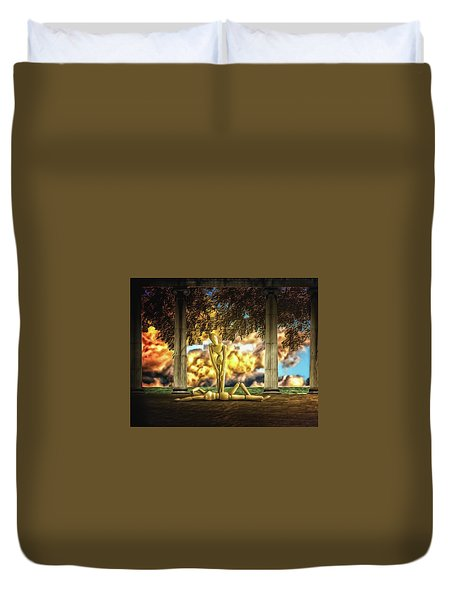 Duvet Cover featuring the photograph Daybreak Redux by Mark Fuller