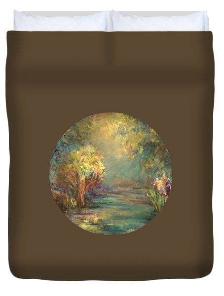 Duvet Cover featuring the painting Daydream by Mary Wolf