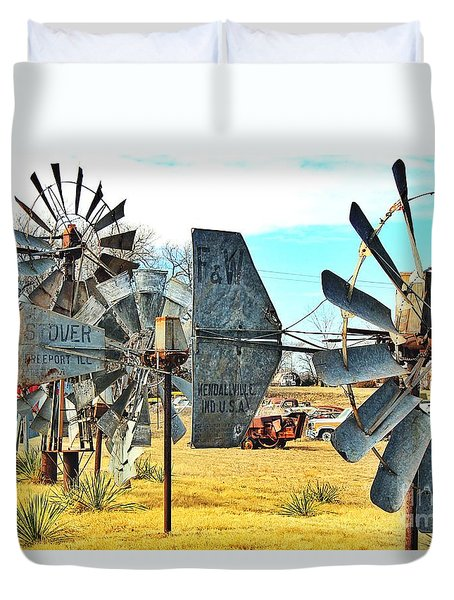 Daylight In The Garden Of Rust And Metal Duvet Cover