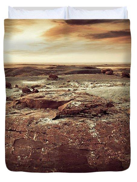 Daylight Leaving Redrock Duvet Cover