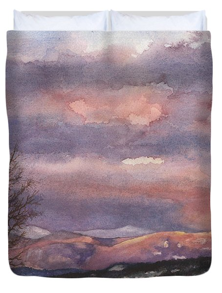 Daylight's Last Blush Duvet Cover