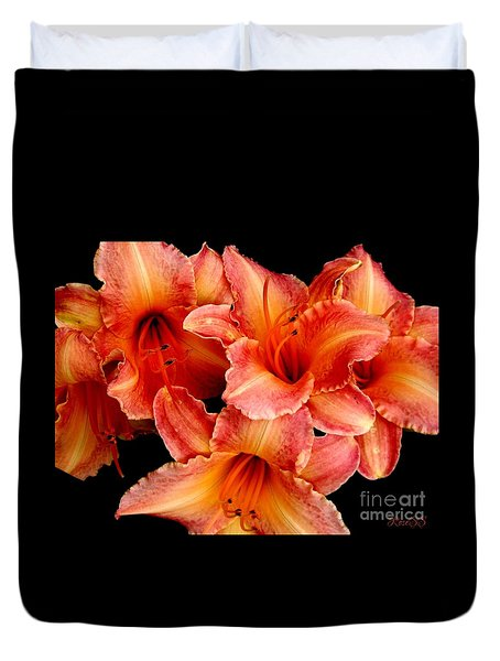 Daylilies 1 Duvet Cover by Rose Santuci-Sofranko