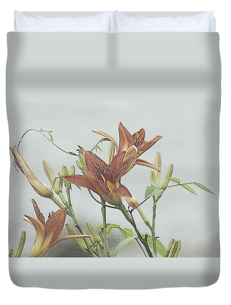 Daylilly Dreaming Duvet Cover
