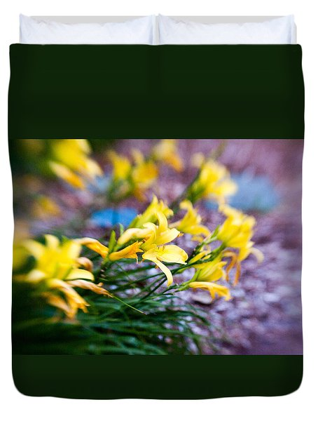 Duvet Cover featuring the photograph Daylily by Erin Kohlenberg