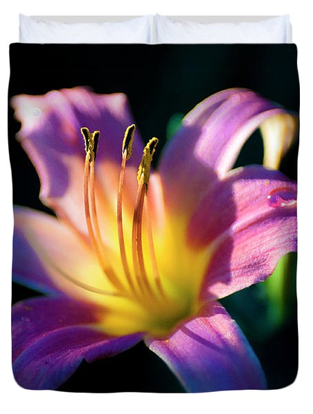 Daylily Glow Duvet Cover by Tamyra Ayles