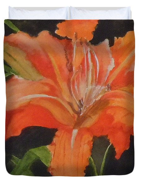 Daylily Study IIi Duvet Cover by Jean Blackmer