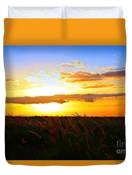 Duvet Cover featuring the photograph Day's End by DJ Florek