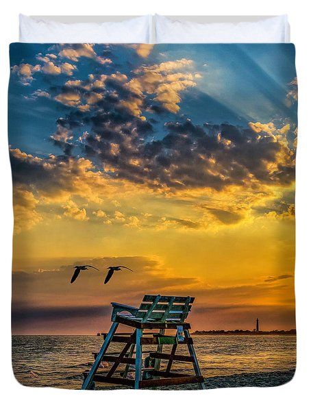 Days End In Cape May Nj Duvet Cover