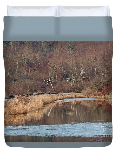Duvet Cover featuring the photograph Days Gone Bye by Christian Mattison
