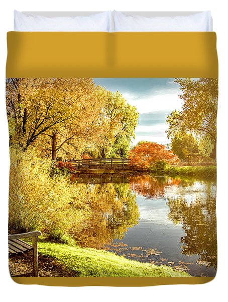 Days Last Rays Duvet Cover
