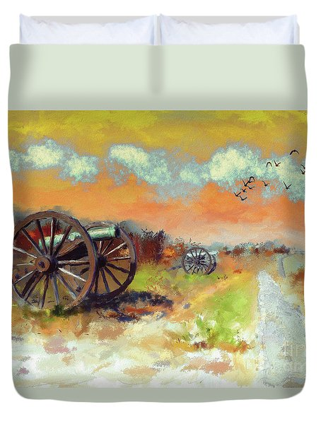 Duvet Cover featuring the photograph Days Of Discontent by Lois Bryan