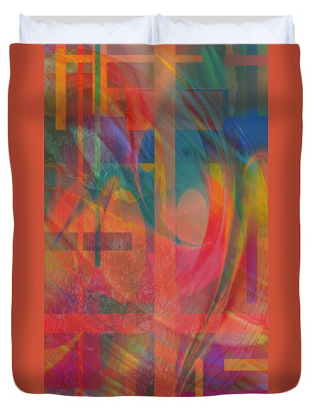 Duvet Cover featuring the painting Days Of Summer by Kevin Caudill