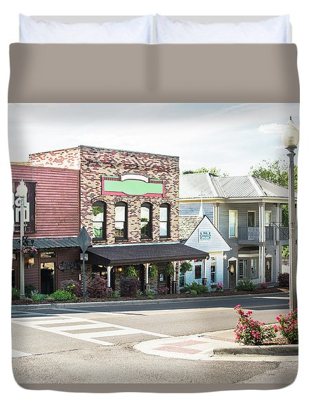 Duvet Cover featuring the photograph Daytime In Old Town Helena by Parker Cunningham