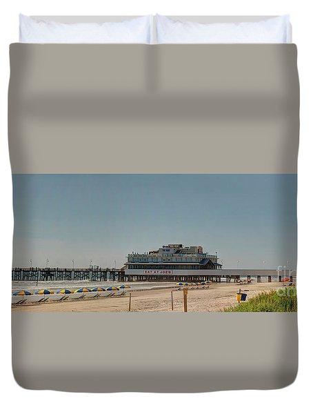 Daytona Beach Pier Pano Duvet Cover