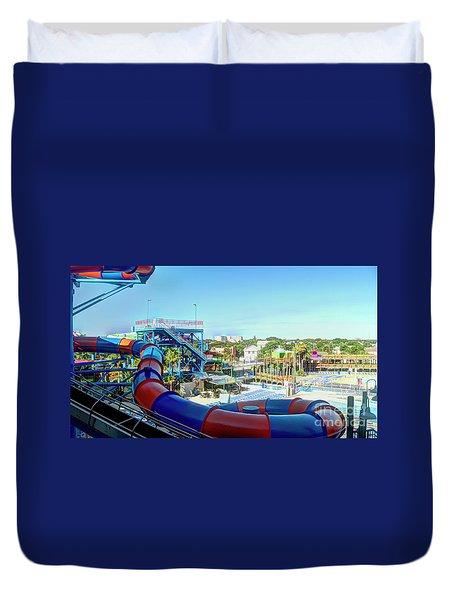 Daytona Lagoon Duvet Cover