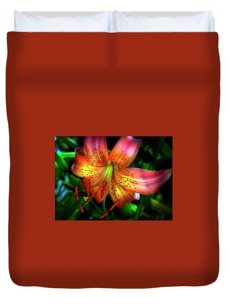 Dazzling Daylily  Duvet Cover