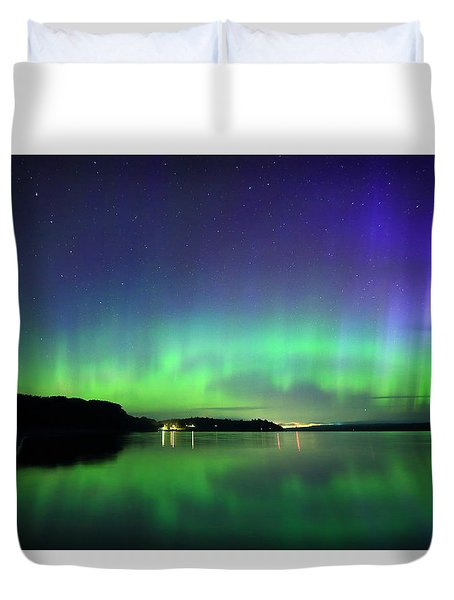 Dazzling Northern Lights  Duvet Cover