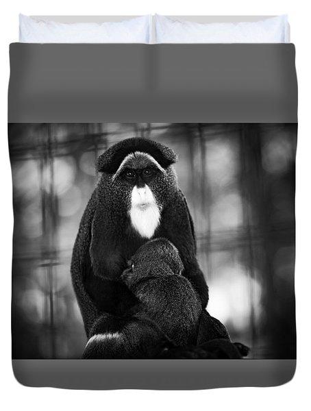De Brazza's Monkey Duvet Cover