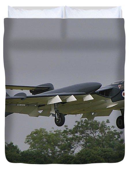 Duvet Cover featuring the photograph De Havilland Dh110 Sea Vixen  by Tim Beach