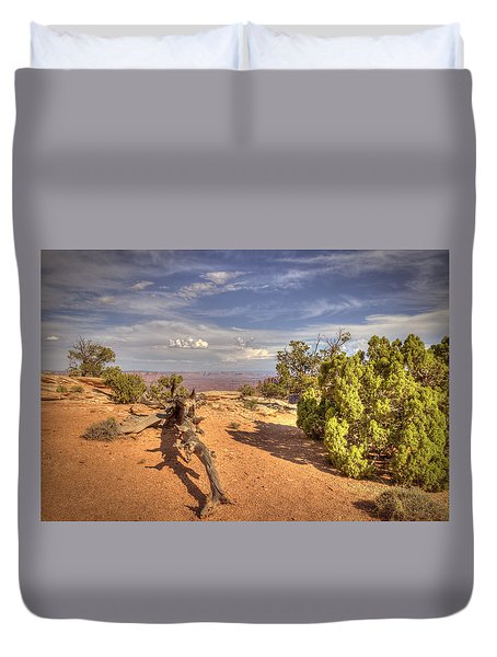 Dead Cedar Canyonlands Duvet Cover