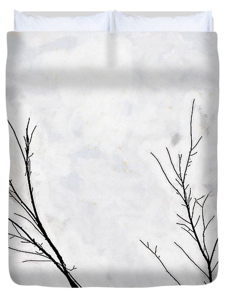 Dead Creek Cranes Duvet Cover