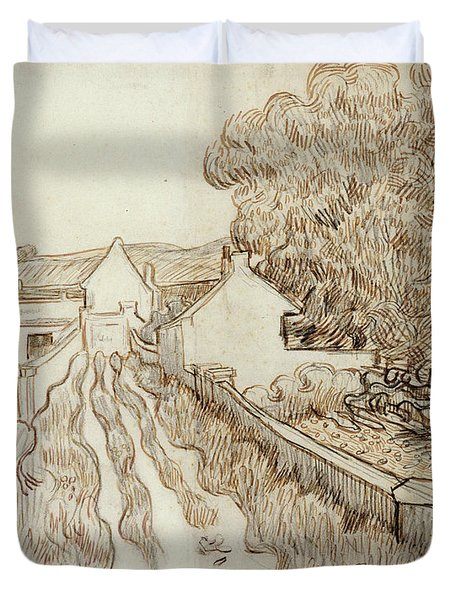 Dead-end Street With Houses, 1890 Duvet Cover