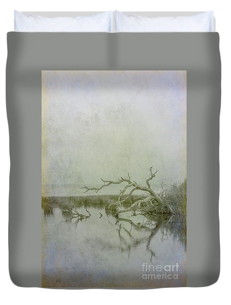 Duvet Cover featuring the digital art Dead In The Water by Randy Steele