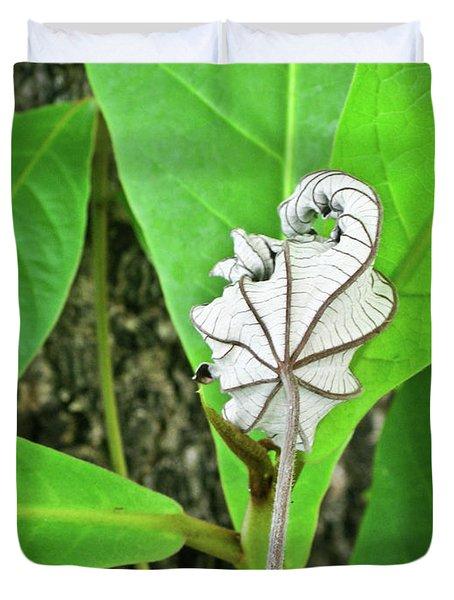 Dead Leaf Live Leaf Duvet Cover