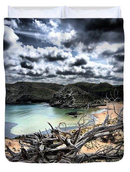Dead Nature Under Stormy Light In Mediterranean Beach Duvet Cover