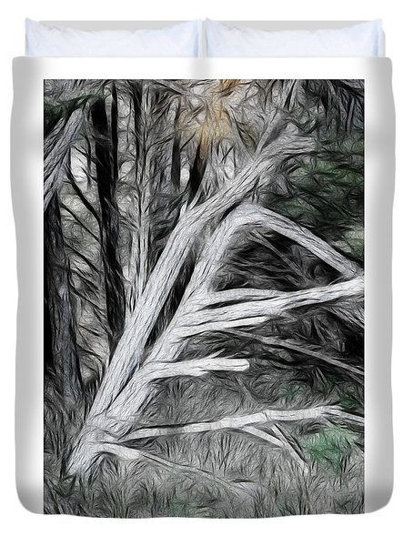 Duvet Cover featuring the photograph Dead Pine by Hugh Smith
