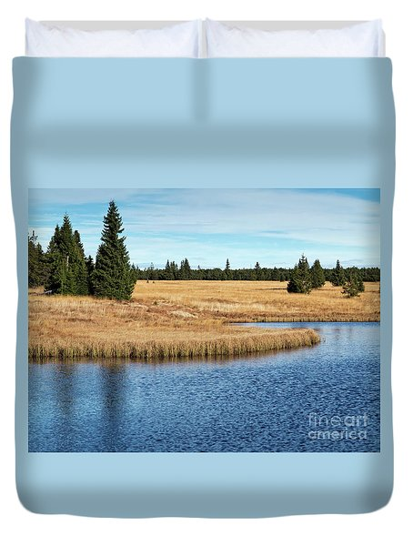 Dead Pond In Ore Mountains Duvet Cover by Michal Boubin