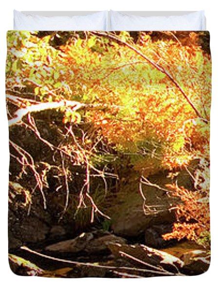 2 Of 6 Dead River Falls  Marquette Michigan Section Duvet Cover