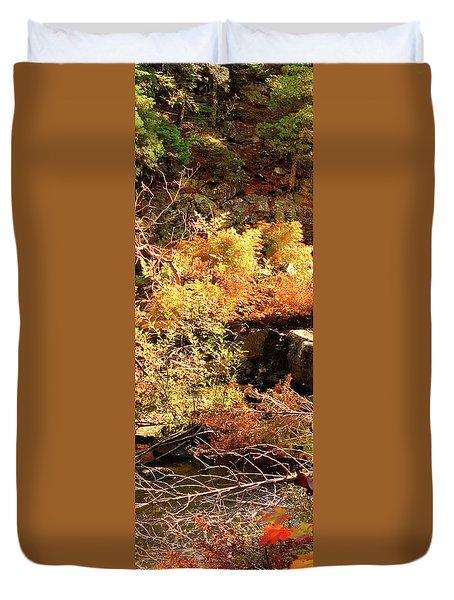 3 Of 6 Dead River Falls  Marquette Michigan Section Duvet Cover