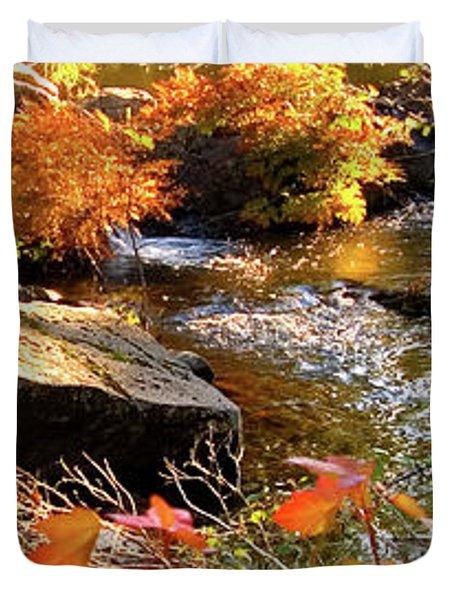 4 Of 6 Dead River Falls  Marquette Michigan Section Duvet Cover