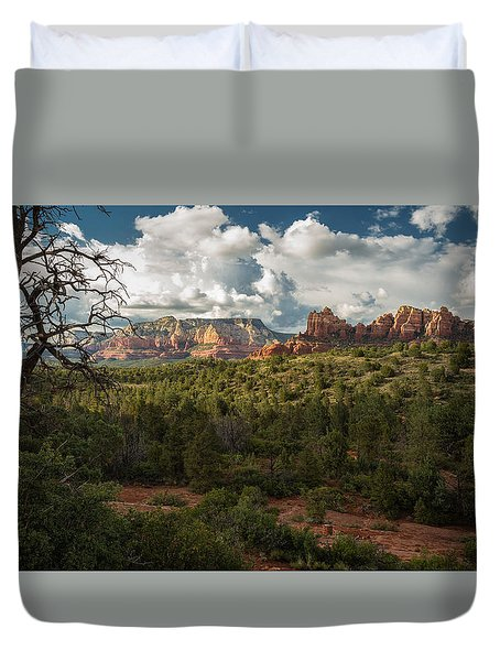 Dead Tree Against The Sky Duvet Cover