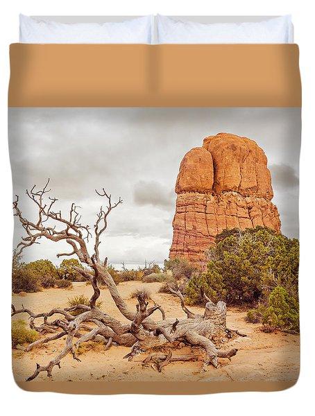 Dead Tree Arches Duvet Cover